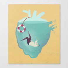 Drowning in love Canvas Print