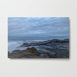 Mornings at the Sea Metal Print