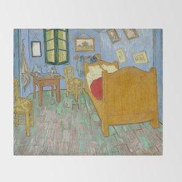 Vincent van Gogh - The Bedroom in Arles Throw Blanket