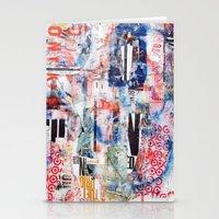 chicago bulls Stationery Cards featuring Bulls Eye by Denzel Boyd