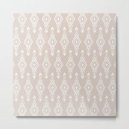 Geometric Art, Aztec Prints, Blush Pink, Wall Art Boho Metal Print