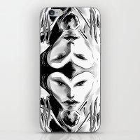 evil queen iPhone & iPod Skins featuring Evil Queen by Keith Gutierrez
