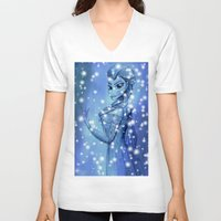 frozen V-neck T-shirts featuring Frozen by shannon's art space