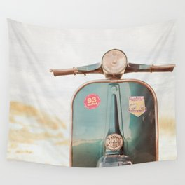 The Blue Vespa Wall Tapestry
