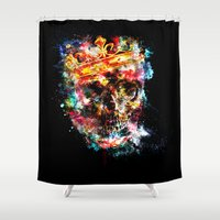 ed sheeran Shower Curtains featuring King Dusty - Black Ed. by HappyMelvin