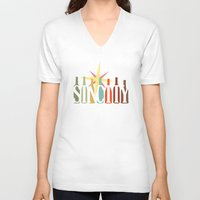 sin city V-neck T-shirts featuring Sin City by Chelsea Dianne Lott