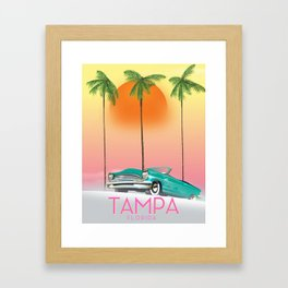 Tampa Florida Travel poster Framed Art Print
