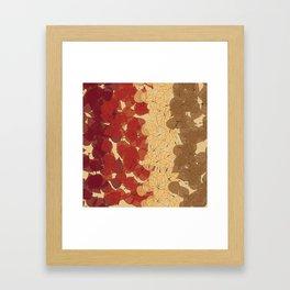 Fallen Leaves Colors Framed Art Print