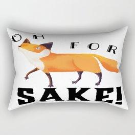 Oh for Fox Sake! Rectangular Pillow