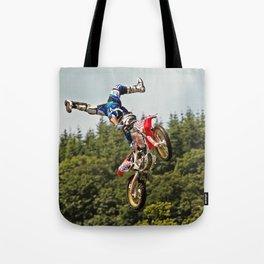 Motocross stuntman Tote Bag