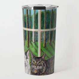 Window Cats Travel Mug