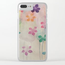 watercolour flowers Clear iPhone Case