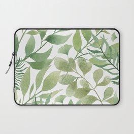 Green Tropical Leaves Laptop Sleeve