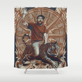 Yeti, King of the Tigers.  Shower Curtain