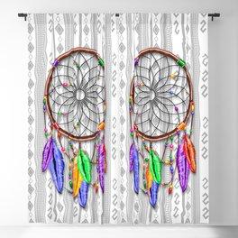 Dreamcatcher Rainbow Feathers Blackout Curtain