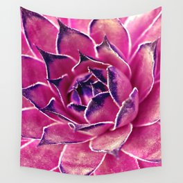 Suculenta Violeta Wall Tapestry