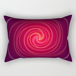 Neon Swirl Rectangular Pillow