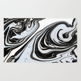 Marbled Black & Blue III Rug