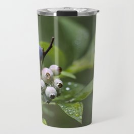 Blueberry bush after the rain Travel Mug