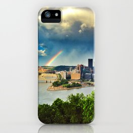 Pittsburgh: Rainbow from Mt. Washington iPhone Case