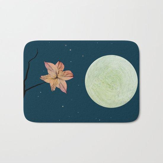 Moonlit Flower Bath Mat