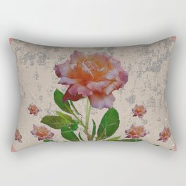SHABBY CHIC CORAL ANTIQUE PINK ROSES Rectangular Pillow