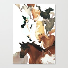 horse witch Canvas Print