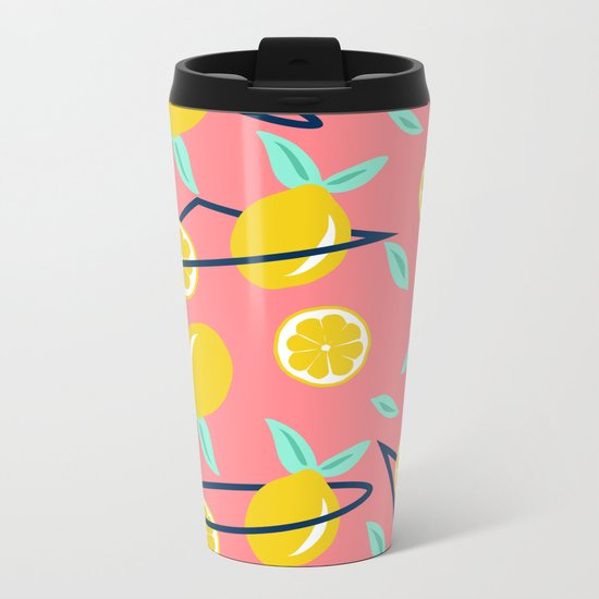 Lemons party #society6 #decor #buyart Metal Travel Mug