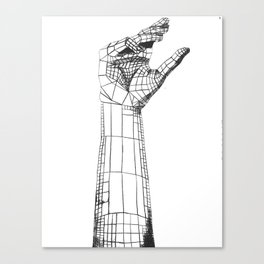 Planar Hand Canvas Print