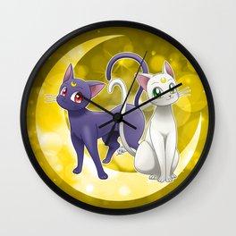 Luna & Artemis (Sailor Moon Crystal edit.) Wall Clock