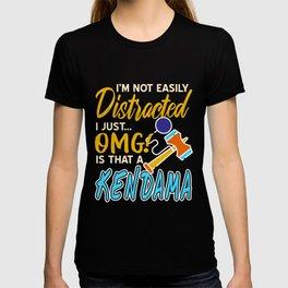 Kendama — not easily distracted T-shirt