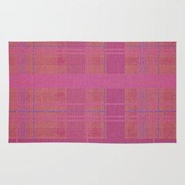 pink madras Rug