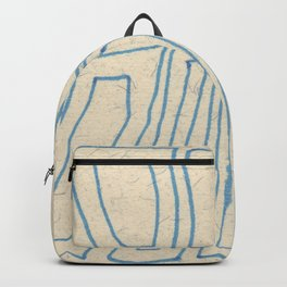 Blue Line Abstract Backpack