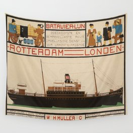 Vintage poster - Rotterdam - London Wall Tapestry