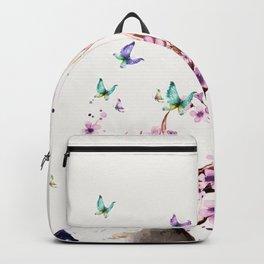 Deer and Flowers II Backpack