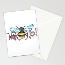 Work Hard Stationery Cards