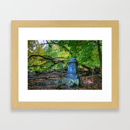 Autumn in the Cemetery Framed Art Print