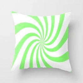 Spiral (Lime & White Pattern) Throw Pillow