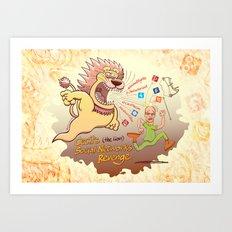 Cecil the Lion's Social Networks Revenge Art Print