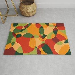 Abstract Colorful Organic Design #0007 Rug
