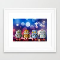 robots Framed Art Prints featuring Robots by Pedro Nogueira