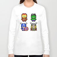 superhero Long Sleeve T-shirts featuring Superhero Gathering by Daizy Jain