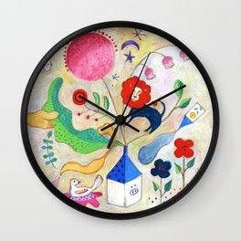 Red lion had a dream Wall Clock