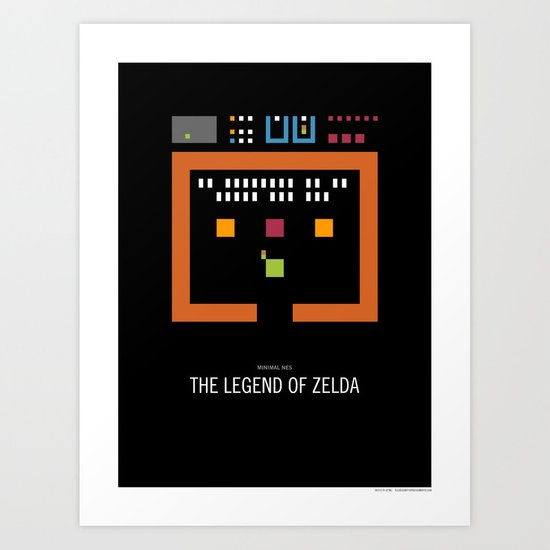Minimal NES - The Legend of Zelda Art Print