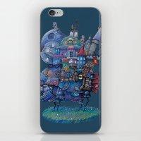 fandom iPhone & iPod Skins featuring Fandom Moving Castle by nokeek