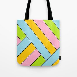 Spring Stripes Tote Bag