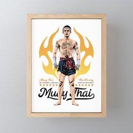 Muay Thai Born to Fight Framed Mini Art Print