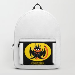 the night knight fox in cute cosplay of a bat ecopop Backpack