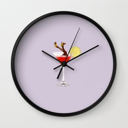 one more please lavender Wall Clock