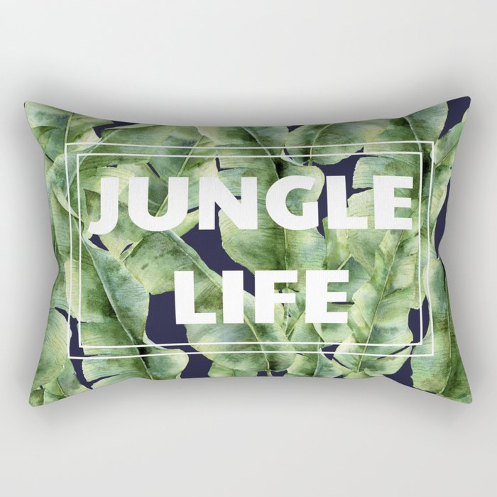 JUNGLE LIFE-banana leaves Rectangular Pillow